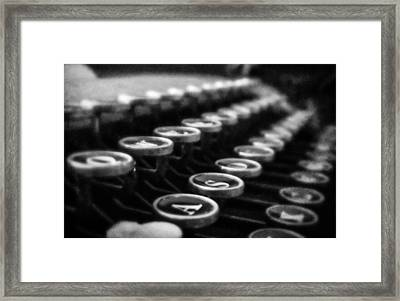 Corona Zephyr Keyboard Framed Print by Jon Woodhams