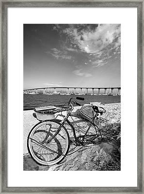 Coronado Bridge Bike Framed Print by Peter Tellone