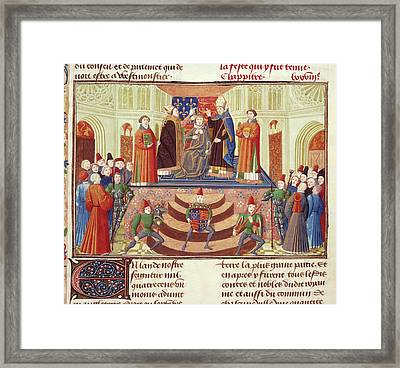 Coronation Of Henry Iv Framed Print by British Library