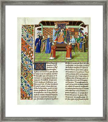 Coronation Of King Henry Of Castile Framed Print by British Library