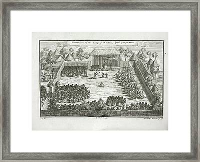 Coronation Of The King Of Whidah Framed Print by British Library