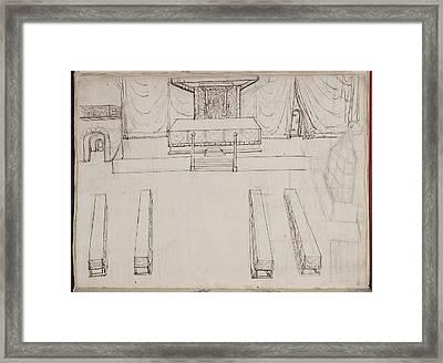 Coronation Venue Of Elizabeth I Framed Print by British Library