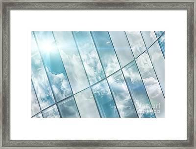 Corporate Flare Reflection Framed Print by Antony McAulay