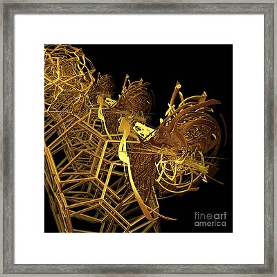 Corporate Ladder By Jammer Framed Print by First Star Art