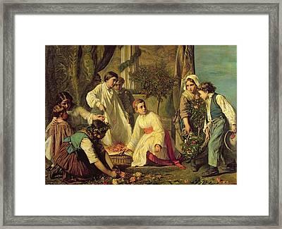 Corpus Christi, 1855 Oil On Canvas Framed Print by Alexandre Antigna