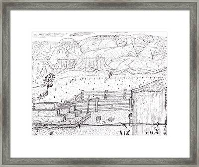 Corral 6 Framed Print by Clark Letellier