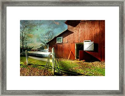 Corral Framed Print by Diana Angstadt