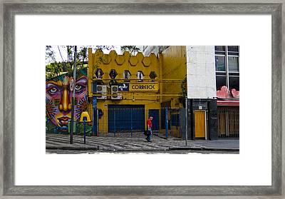 Correios - Sao Paulo Framed Print by Julie Niemela