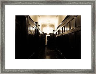 Corridor Framed Print by Fatemeh Azadbakht
