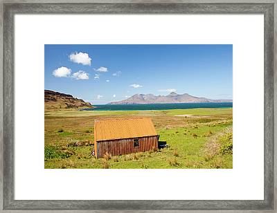 Corrugated Iron Barn At Cleadale Framed Print by Ashley Cooper