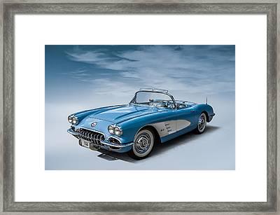 Corvette Blues Framed Print by Douglas Pittman