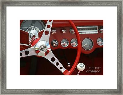 Corvette Classic Red Framed Print by Sharon Mau