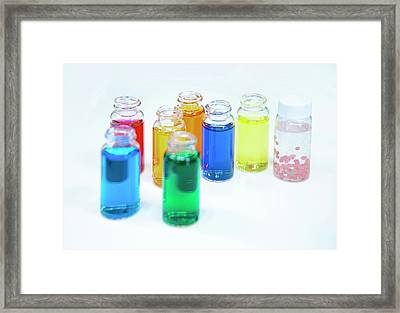 Cosmetics Manufacturer Framed Print by Photostock-israel