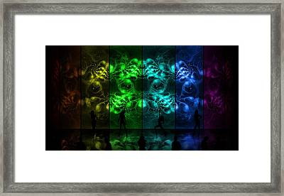 Cosmic Alien Vixens Pride Framed Print by Shawn Dall