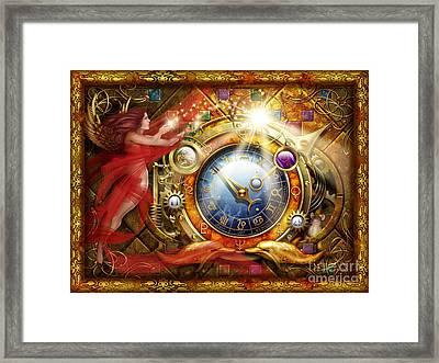 Cosmic Clock Framed Print by Ciro Marchetti