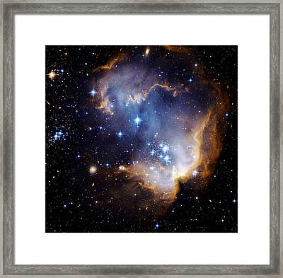 Cosmic Cloud  Ngc602 Framed Print by Celestial Images