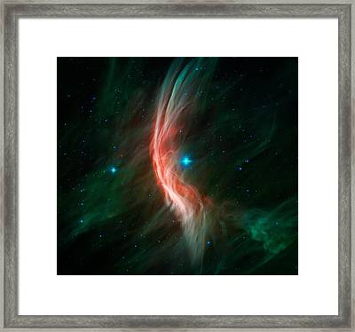 Cosmic Feather Dance Framed Print by The  Vault - Jennifer Rondinelli Reilly