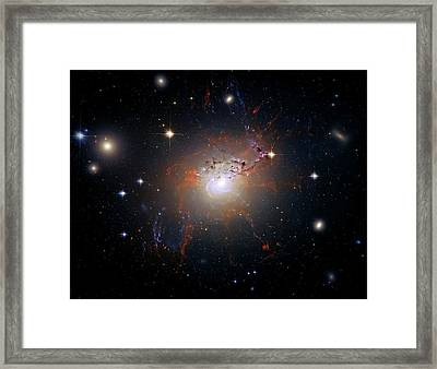Cosmic Fireworks Framed Print by The  Vault - Jennifer Rondinelli Reilly