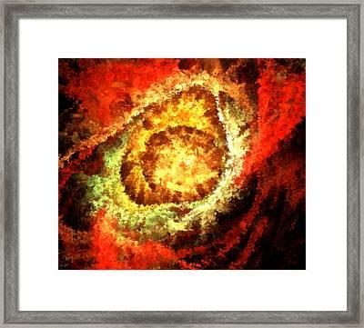 Cosmic Flares Framed Print by Lourry Legarde