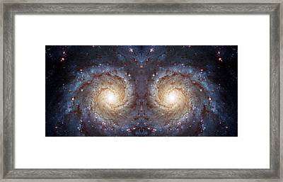 Cosmic Galaxy Reflection Framed Print by The  Vault - Jennifer Rondinelli Reilly