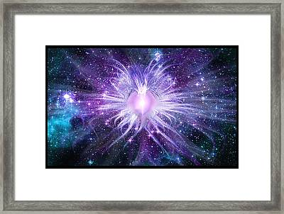 Cosmic Heart Of The Universe Framed Print by Shawn Dall