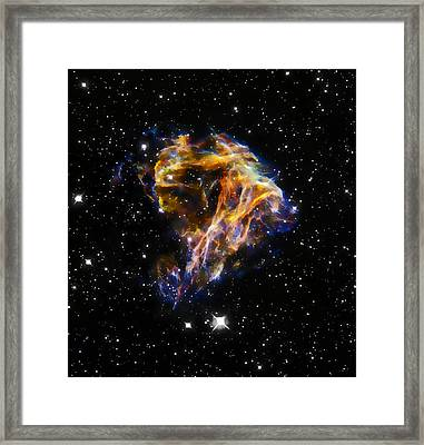 Cosmic Heart Framed Print by The  Vault - Jennifer Rondinelli Reilly