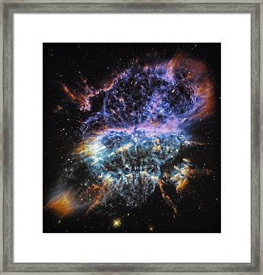 Cosmic Infinity 2 Framed Print by The  Vault - Jennifer Rondinelli Reilly