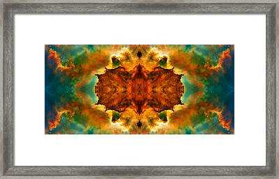 Cosmic Kaleidoscope 2  Framed Print by The  Vault - Jennifer Rondinelli Reilly