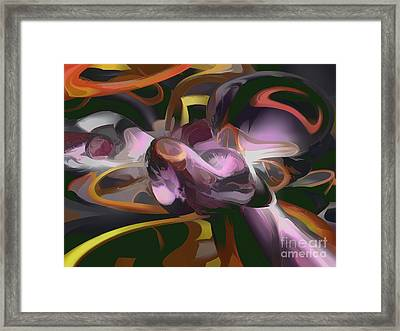 Cosmic Lightning Pastel Abstract Framed Print by Alexander Butler