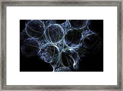 Cosmic Marbles Framed Print by Rhonda Barrett