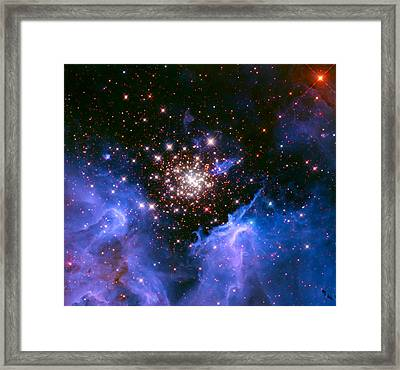 Cosmic Mountains Framed Print by The  Vault - Jennifer Rondinelli Reilly