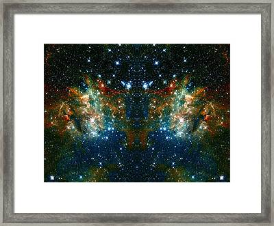 Cosmic Phoenix  Framed Print by The  Vault - Jennifer Rondinelli Reilly