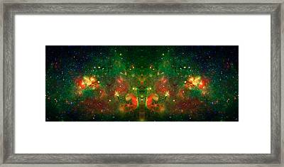 Cosmic Reflection 1 Framed Print by The  Vault - Jennifer Rondinelli Reilly