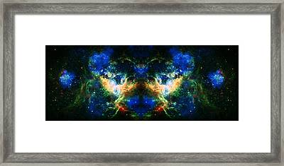 Cosmic Reflection 2 Framed Print by The  Vault - Jennifer Rondinelli Reilly