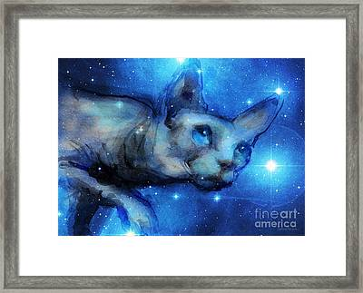 Cosmic Sphynx Cat  Framed Print by Svetlana Novikova
