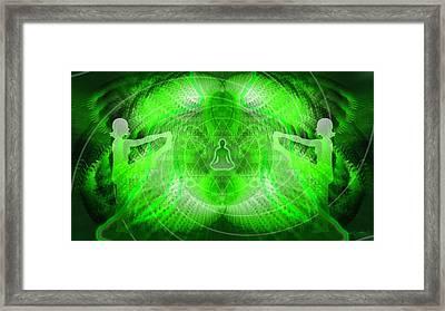 Cosmic Spiral Ascension 24 Framed Print by Derek Gedney
