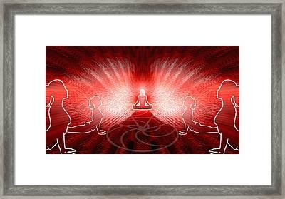 Cosmic Spiral Ascension 25 Framed Print by Derek Gedney