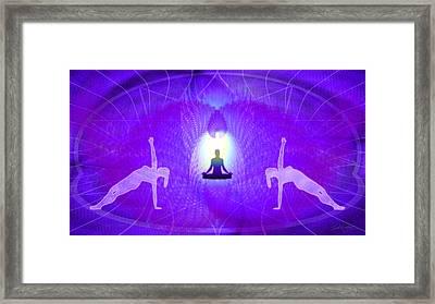 Cosmic Spiral Ascension 28 Framed Print by Derek Gedney