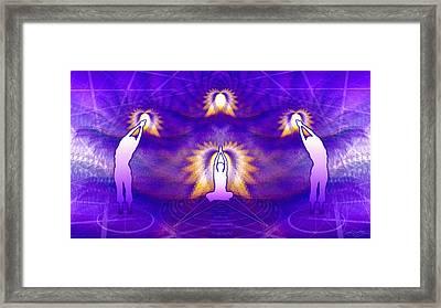Cosmic Spiral Ascension 31 Framed Print by Derek Gedney