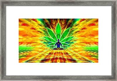 Cosmic Spiral Ascension 34 Framed Print by Derek Gedney