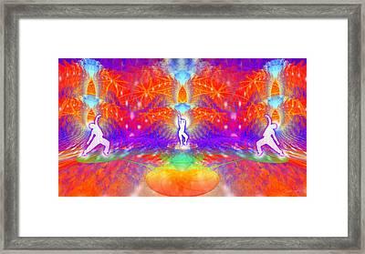 Cosmic Spiral Ascension 53 Framed Print by Derek Gedney