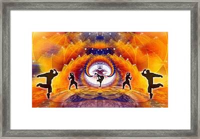Cosmic Spiral Ascension 54 Framed Print by Derek Gedney