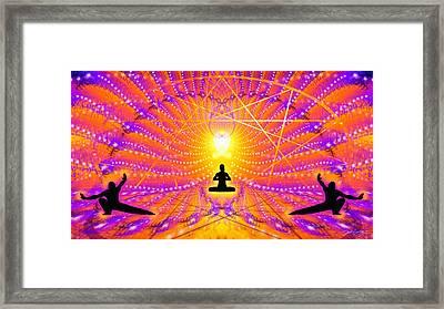 Cosmic Spiral Ascension 57 Framed Print by Derek Gedney
