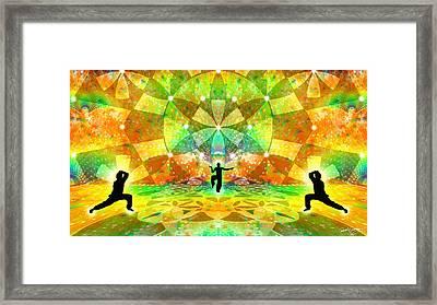 Cosmic Spiral Ascension 66 Framed Print by Derek Gedney