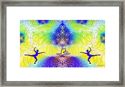 Cosmic Spiral Ascension 67 Framed Print by Derek Gedney