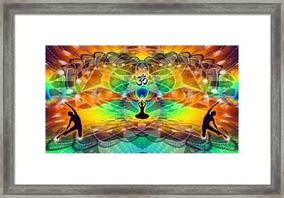 Cosmic Spiral Ascension 68 Framed Print by Derek Gedney