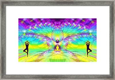 Cosmic Spiral Ascension 69 Framed Print by Derek Gedney