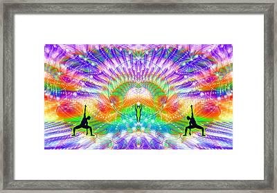 Cosmic Spiral Ascension 70 Framed Print by Derek Gedney