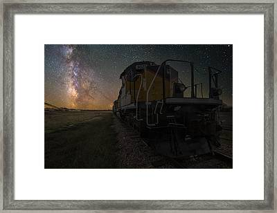 Cosmic Train Framed Print by Aaron J Groen