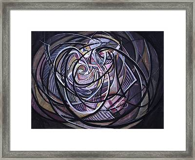 Cosmic Worm Hole Framed Print by Safir  Rifas